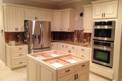 kitchen, island, oven cabinet